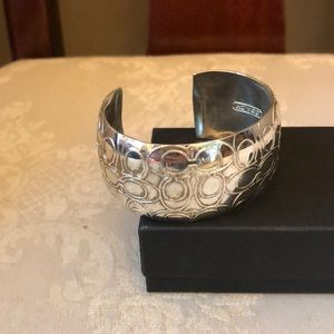 Gorgeous sterling silver Coach bangle bracelet